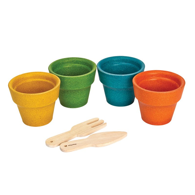 PlanToys 8617 Flower Pot Set Novelty by PlanToys (Image #2)