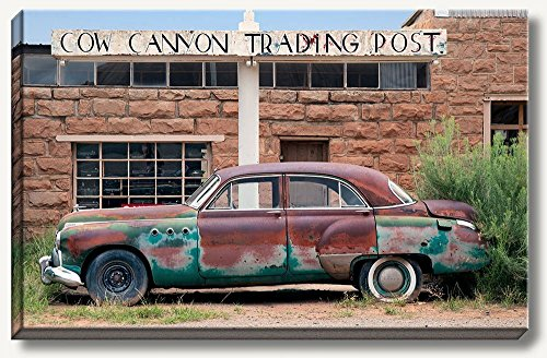 16-x-24-inch-large-gallery-wrapped-canvas-photography-of-old-rusty-buick-car-in-front-of-the-abandon