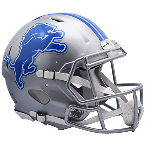 Detroit Lions NEW 2017 Officially Licensed Speed Authentic Football Helmet by Riddell