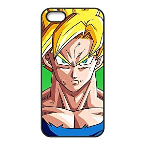 Dragon Ball caja del teléfono iPhone 5 5S Funda Negro Goku Por Bejitsu Illust F7R6RF Fashion Phone Case Fundas personalizada