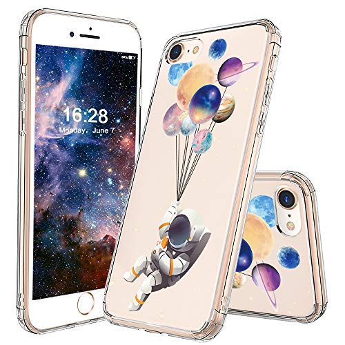 - MOSNOVO iPhone 8 Case, iPhone 7 Clear Case, Astronaut Planet Pattern Printed Clear Design Transparent Plastic Back Case with TPU Bumper Protective Case Cover for iPhone 7/iPhone 8