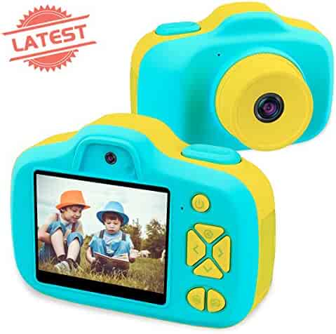 Joytrip Kids Digital Cameras for Boys Gifts HD 2.3 Inches Screen 8.0MP Video Camera for Kids Shockproof Children Selfie Toy Camera Anti-fall Mini Child Camcorder for Age 3-14 with Soft Material (Blue)