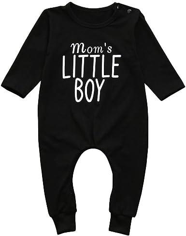 Ropa bebé niño Infantil Recién Nacidos Niños Bebés Carta Imprimir Mameluco Mono Pijamas Trajes de Ropa