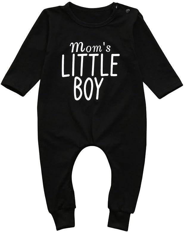Ropa beb/é ni/ño Infantil Reci/én Nacidos Ni/ños Beb/és Carta Imprimir Mameluco Mono Pijamas Trajes de Ropa