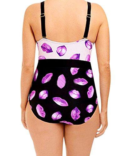 HAOYUXIANG Cintura Pedazo Atractivo Traje De Baño Bikini PhotoColor