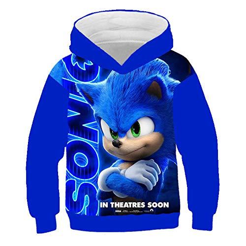 Kinderkleding, 4 tot 14 jaar, capuchonsweatshirts voor kinderen, Trolls World Tour, Sonic 3D, hoodie , trui, jongens…