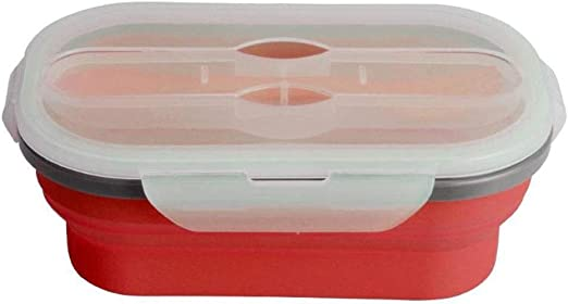 ZA Bento Lunch Box, Silicona Plegable Lunch Box Contenedor de ...