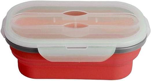 ZA Bento Lunch Box, Silicona Plegable Lunch Box Contenedor de ...