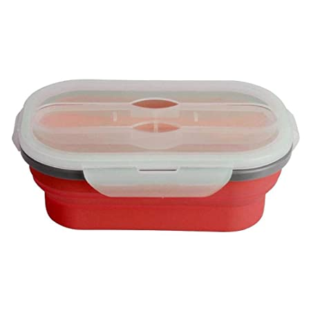 ZA Bento Lunch Box, Silicona Plegable Lunch Box Contenedor ...