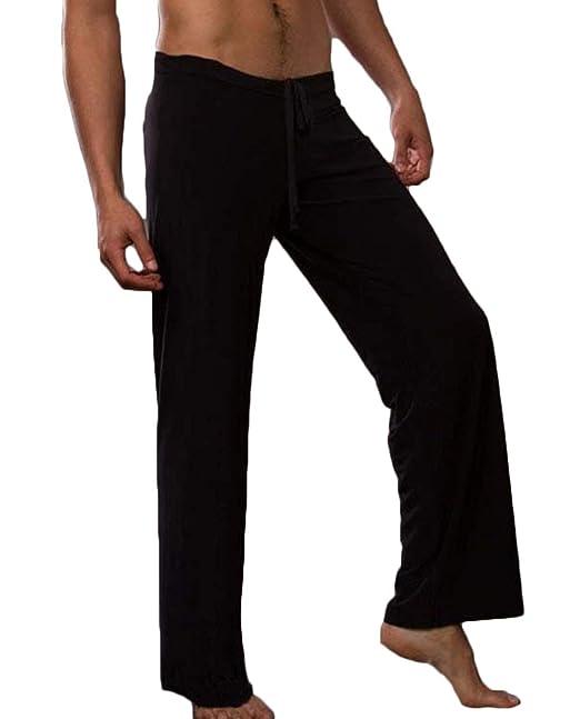 Amazon.com: Visgogo, pantalones de yoga para hombre, sueltos ...