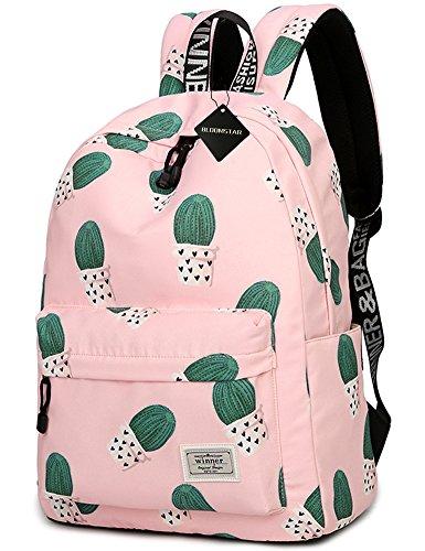 School Bookbag for Girls, Cute Cactus Water Resistant Laptop Backpack College Bags Women Travel Daypack