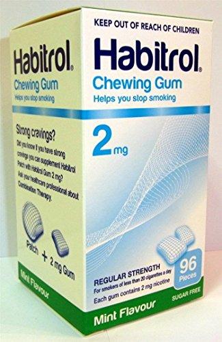 (Habitrol Nicotine Quit Smoking Gum, 2mg, Mint flavor coated gum. 96 pieces per)