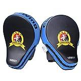 mma target - Cheerwing 1 Pair New Target MMA Boxing Mitt Focus Punch Pad Training Glove Karate Muay Thai Kick (Blue (1 Pair))