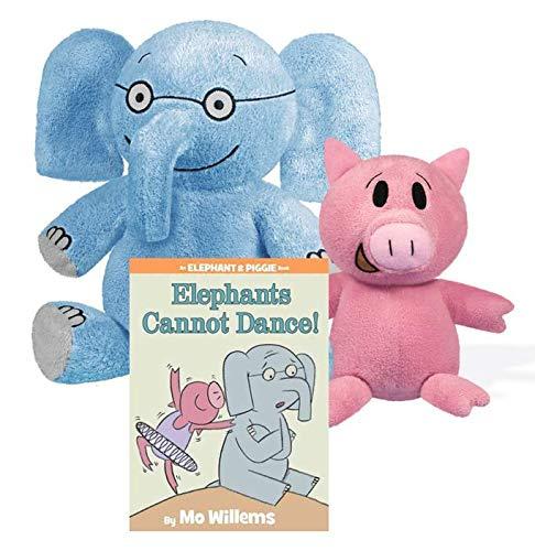 YOTTOY Mo Willems Elephant and Piggie Plush (Elephant & Piggie Gift Set)