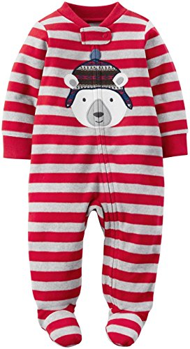 Carter's Baby Boy's One Piece - 3 Months - Red Polar Bear