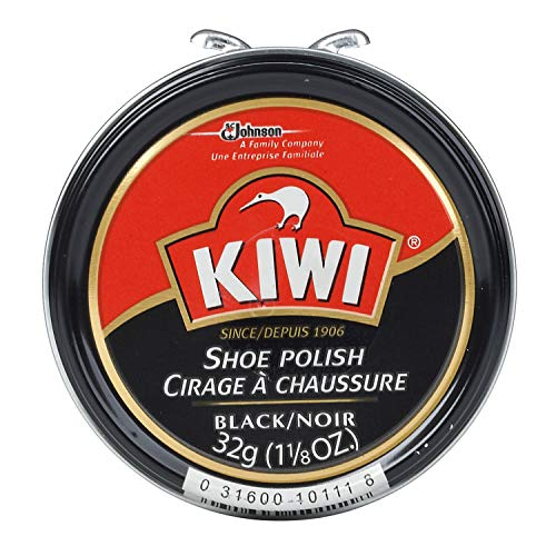 SARA LEE H B C/KIWI Kiwi 10111 Shoe Paste Polish 1-1/8 Ounce, Black, Small,