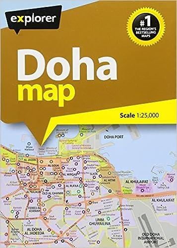 Explorer City Map Doha: Doha Map: 1 : 25 000 / Doha Overview Map: 1 on