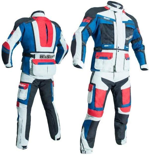 WinNet Completo tuta moto in cordura giacca e pantaloni per turismo XL