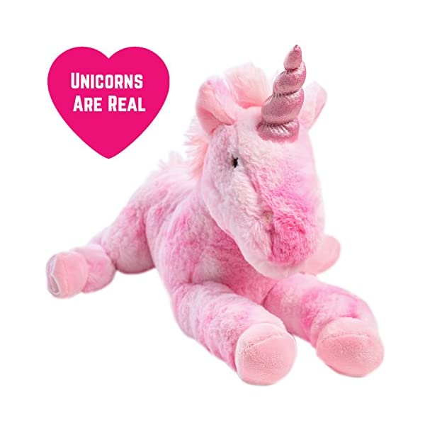 GirlZone Stuffed Pink Plush Unicorn for Girls, Large-18 Inches, Glitter Horn, Great Birthday Gift Idea 11
