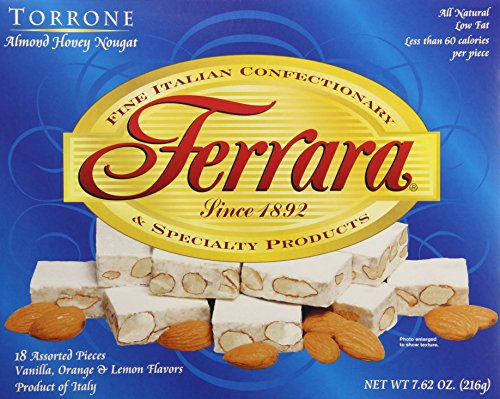 Ferrara Torrone Nougat Candy, Almond Honey, 18 Count (Pac...