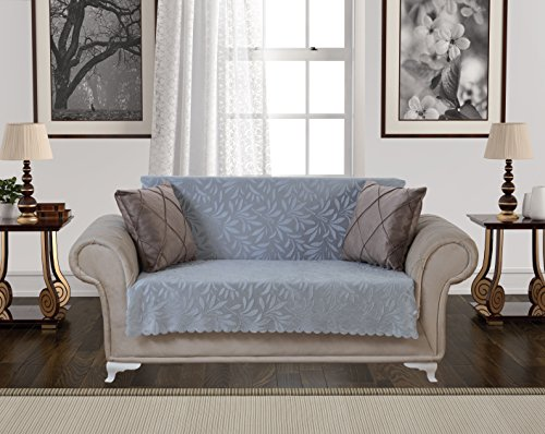 Anti-Slip Armless Pet Dog Sofa Cover Couch Covers Sectional Slipcover/Non-Slip Arm-chair Recliner Chair Furniture Protector/Futon Shield 1 2 3 Seater T Cushion L Shaped Leather (Love-Seat/Gray) by Chiara Rose (Image #4)'