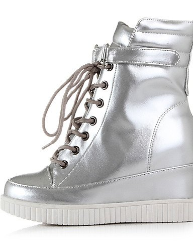 La De Zapatos Cn39 Xzz Cn36 Negro Semicuero Eu36 us6 Botas Punta Uk6 A Redonda Silver Uk4 Plataforma Mujer Eu39 Vestido Plata Casual Moda Silver us8 A85wx5q