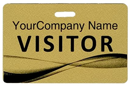 Amazon com : Visitor ID Name Badge - Plastic Visitor Badge