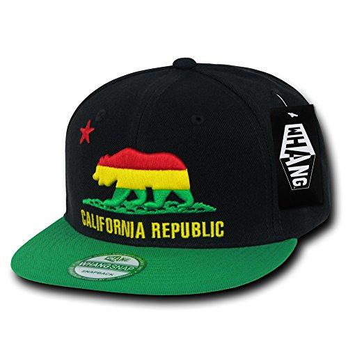 WHANG California Republic Snapbacks, Rasta 2