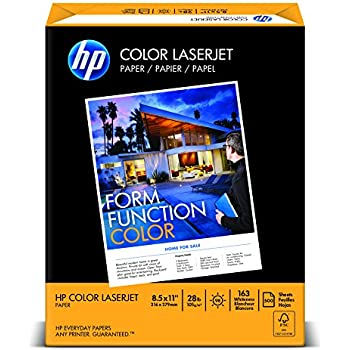 HP Paper, Color LaserJet Poly Wrap, 28lb, 8.5 x 11, Letter, 98 Bright, 500 Sheet / 1 Ream (205050R) Made In The USA