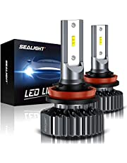 SEALIGHT H11 H8 H9 LED Headlight Bulbs, Low Beam LED Bulbs/Fog Light, 6000K Bright White, Halogen Replacement, Quick Installation