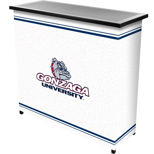 NCAA Gonzaga University Two Shelf Portable Bar with Case