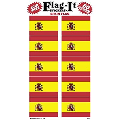 Spain Flag Stickers for Home or School: Toys & Games
