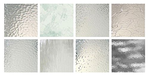 4″x6″ Clear Texture Variety Stained Glass Pack