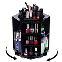 ECVISION Big Capacity Rotating Acrylic Cosmetic/revolving makeup organizer/Cosmetics Storage (Black)
