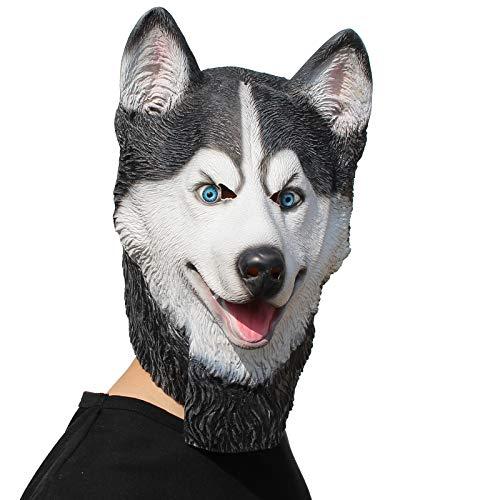 PartyHop - Husky Mask - Halloween Latex Animal Dog Head Mask