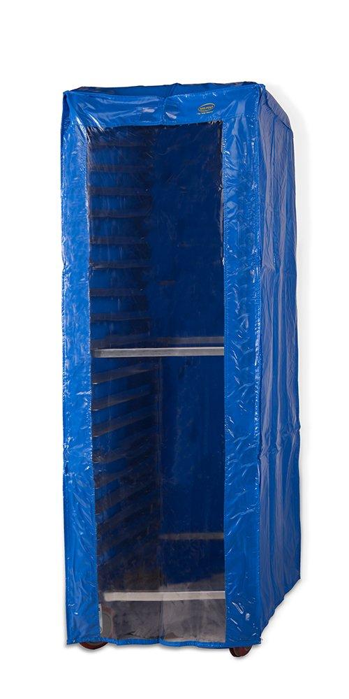 Winholt SRC-58FC/3Z Freezer Rack Covers, 28'' Length x 23'' Width x 64'' Height, Blue/Clear Vinyl by Winholt