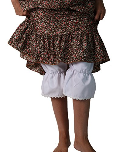 Making Believe Girls/Women's Basic Pioneer Peasant Costume Bloomers (Women's Medium 6/8, White) by Making Believe (Image #2)