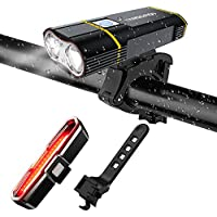 TANSOREN USB Rechargeable Bicycle Light Front and Back...