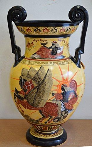 (Poseidon & Goddess Athena - Apollo Helios - Amphora Vase - Museum Replica)