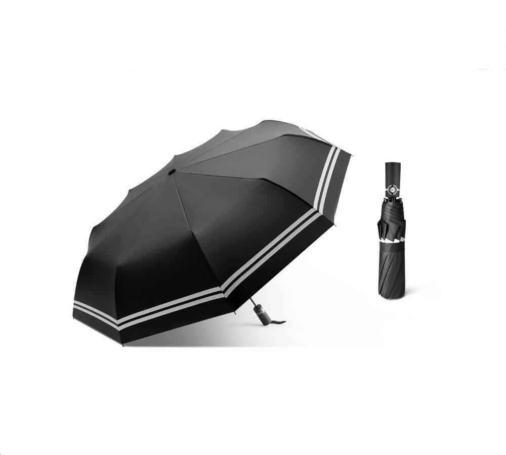 BEBEGO Windproof Travel Umbrella with Teflon Coating (Classic Black)