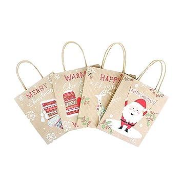 Amazon.com: BESTOYARD - Bolsas de papel kraft para fiestas ...