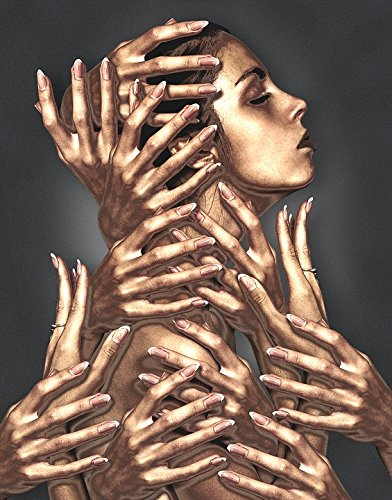Peel-n-Stick Poster of Bronze Statue Model Hands Sculpture Women Female Poster 24x16 Adhesive Sticker Poster Print