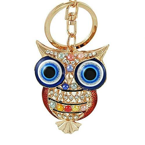 Owl Shape Rhinestone Keychain Pendant Purse Bag Car Key Ring Ornament Welcome (Style. - YSKZ-724)