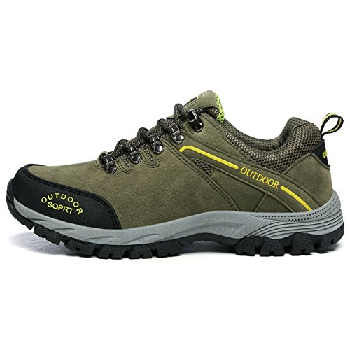 Wanderschuhe Trekking Schuhe Herren Damen Sommer Bequeme Atmungsaktiv Sports Outdoor Hiking Sneaker Rutschfest, 41EU=42CN, Grün1