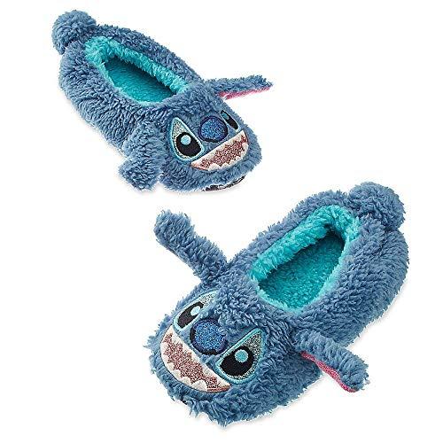 Disney Store Kids Stitch - Lilo & Stitch - Plush Slippers Blue, Size 13/1