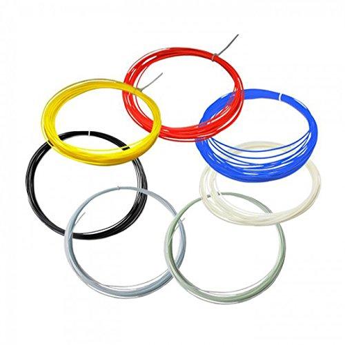 (HATCHBOX 3D PEN-ABS1.75-SMP ABS 3D Pen Filament, Dimensional Accuracy +/- 0.05mm, 0.44lbs Total, 1.75mm, 12 Color Sample Pack - 20 Feet Per Color)