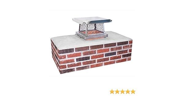 Single Flue Tile Mount 9x9 Inch Rockford Chimney Supply Stainless Steel Chimney Cap