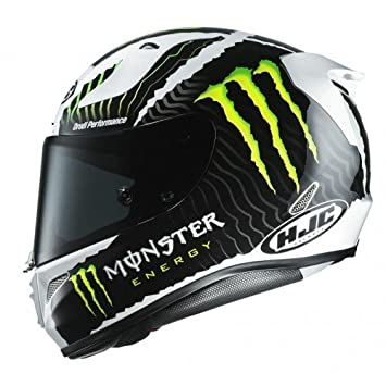 HJC casco de moto Rpha 11 Monster Military, negro/rojo, ...