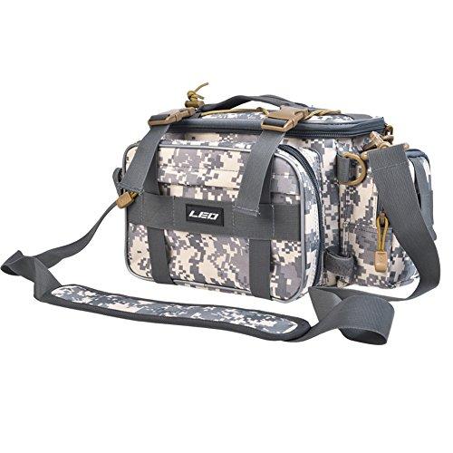 Leo Waterproof Outdoor Multifunctional Fishing Tackle Bag Water-Resistant Shoulder Bag Handbag Waist Bag Fishing Gear Storage for Fishing Hiking Climbing (Camouflage)