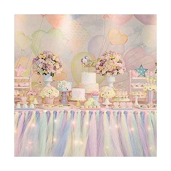 Matt Time Unicorn Happy Birthday Cake Topper Glitter for Kids Boys Girls Party Decorations Gold Acrylic 9